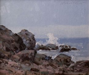 seascapes, California, near San Francisco. paintings of sea scapes