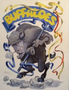 Mascots, Greybull Buffaloes, paintings,